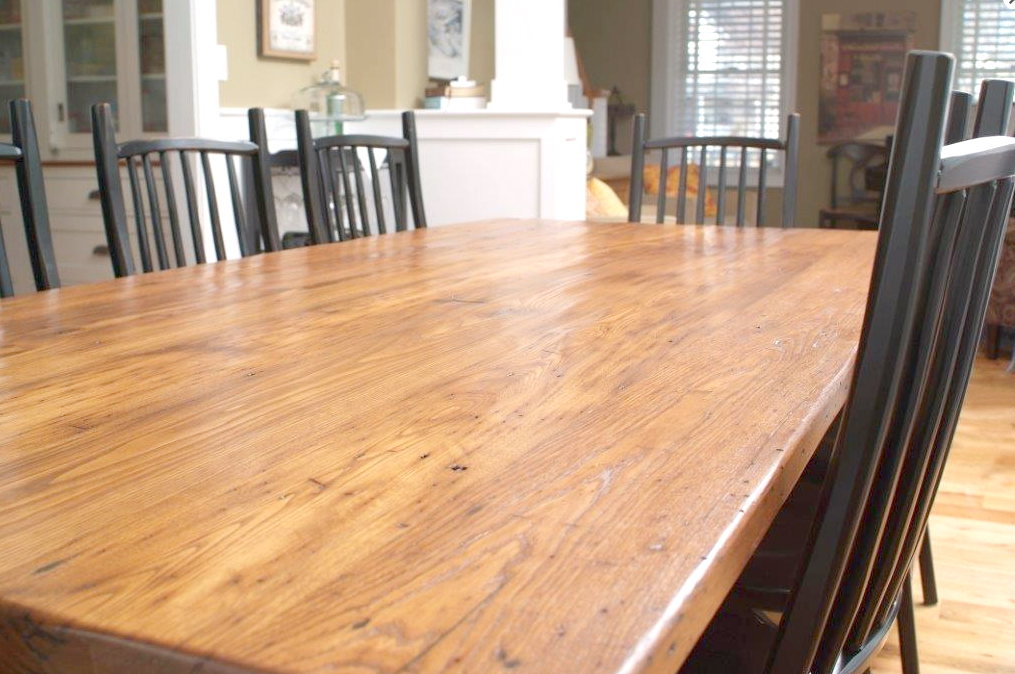 Discover Shenandoah Style. Beautiful rustic farm tables made from reclaimed wood