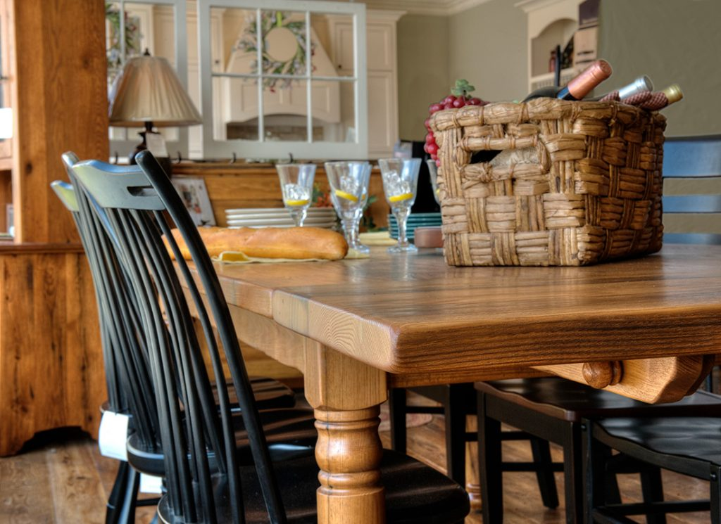 Handcrafted farmhouse table in Fairfax County