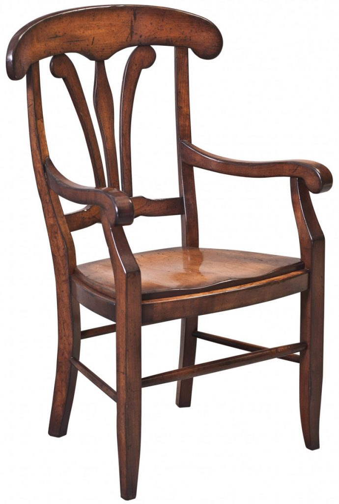 dining-pieces-custom built natural wood finish arm chair