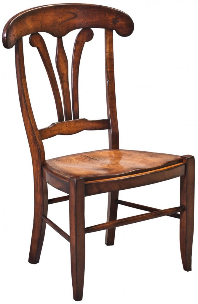 dining-pieces-custom designed wood side chair with natural wood finish