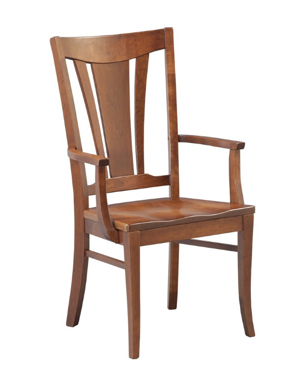 dining-pieces-light natural wood custom arm chair