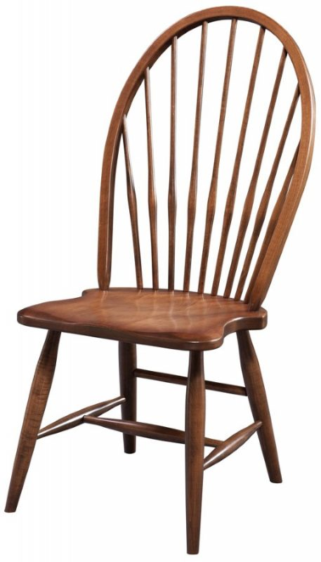 custom stained hiback windsor side chair