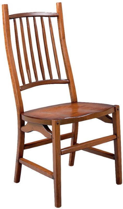 natural wood finish on a country squire side chair
