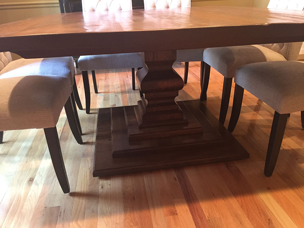 Reclaimed Wood Dining Table Base in Fairfax County