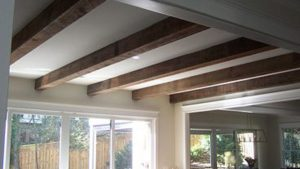 architectural accented reclaimed wood beams