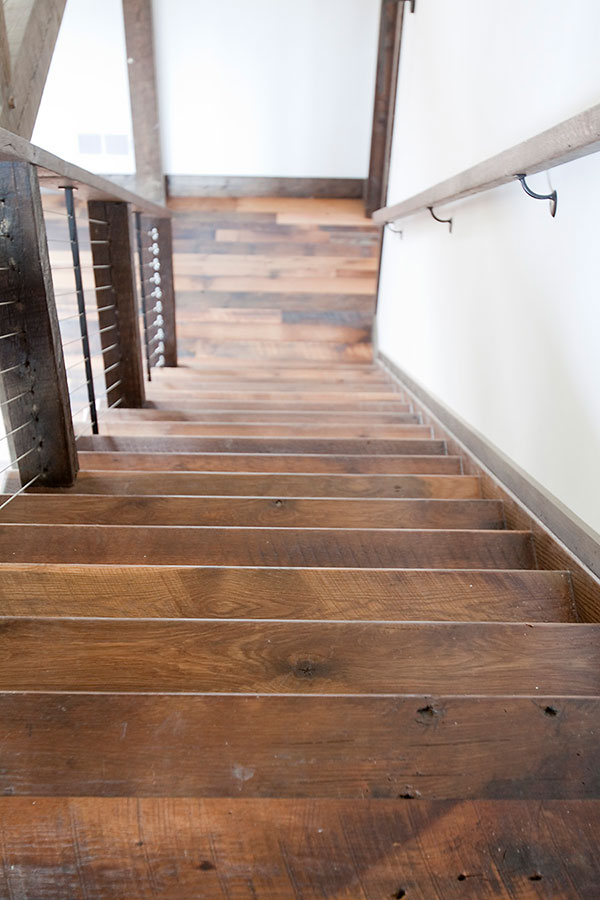 Reclaimed Wood Stairs Shenandoah Furniture Gallery