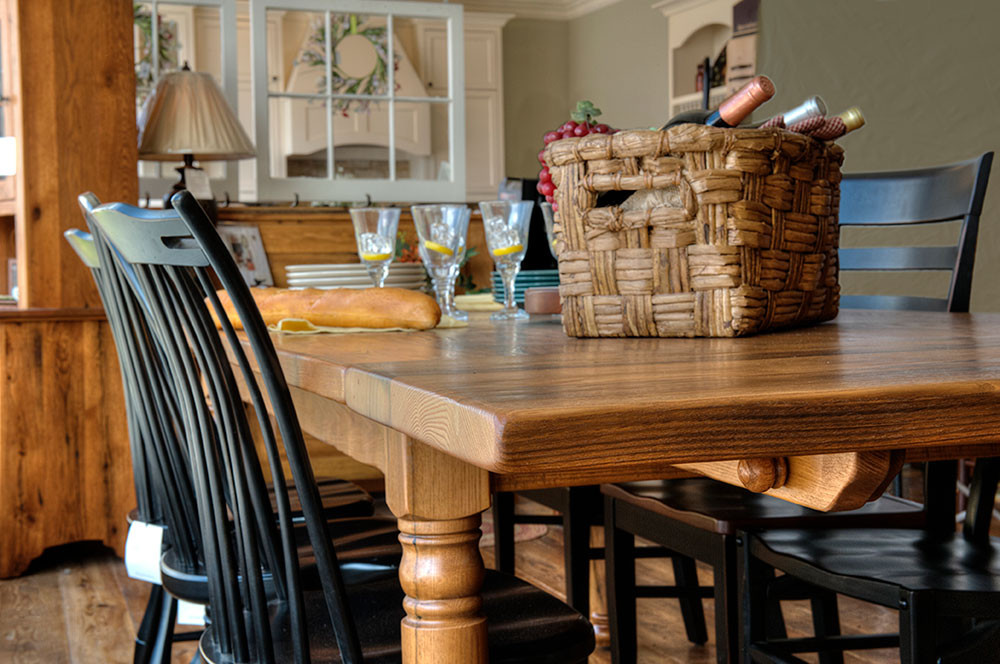Beautiful rustic farm tables made from reclaimed wood