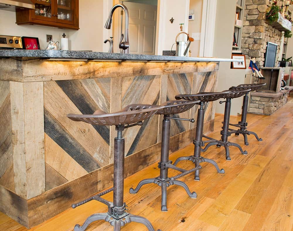 shenandoah-farm-tables-industrial-farmhouse-kitchenette-in-west-virginia-reclaimed-wood-bar-with-stools