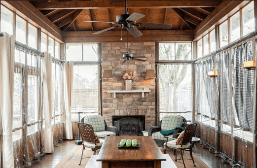 blog- refined- country-Reclaimed- Wood- Farm- Table- on -Screened- in- Porch-purcellville-virginia